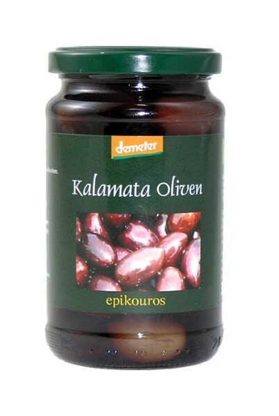 LOGO_Demeter Kalamata-Oliven in nativem Olivenöl extra