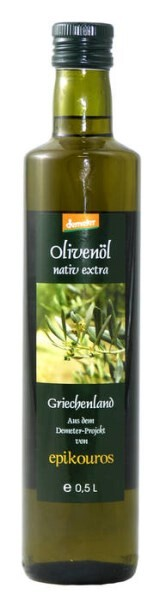 LOGO_DEMETER Epikouros Olivenöl nativ extra 500 ml