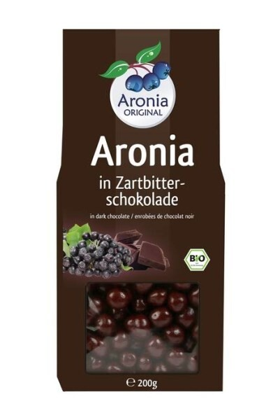LOGO_Organic Aronia berries in premium dark chocolate (200g)
