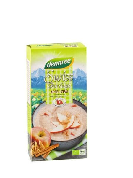 "LOGO_""dennree Swiss Bio-Porridge """"Apfel-Zimt""""  (Frühstücksbrei)"""