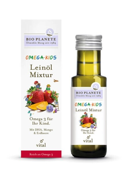LOGO_Omega Kids · Flaxseed Oil Mixture ·