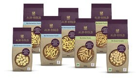 LOGO_ALB-GOLD Organic Pasta in paper packaging