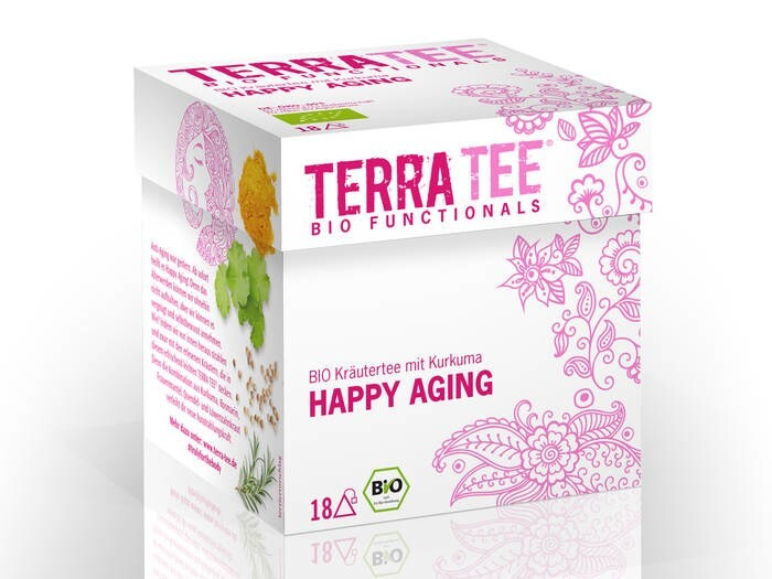 LOGO_Sechs funktionelle Tees im Pyramidenbeutel für 100% Geschmack in feinster Bio-Qualität.