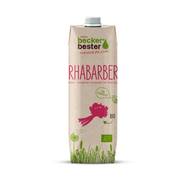 LOGO_Organic rhubarb nectar in Tetra Pak Craft packaging