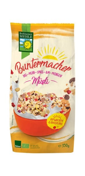 "LOGO_""Buntermacher"" Crunchy Cereal with Chocolate and Strawberry"