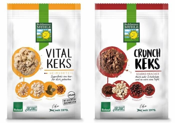 "LOGO_""Vitalkeks"" Biscuit with germinated buckweat and quinoa, ""Crunch Keks"" Chocolate biscuit"