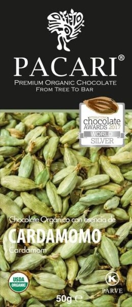 LOGO_Pacari Organic Dark Chocolate Bar with Cardamom (50 g)