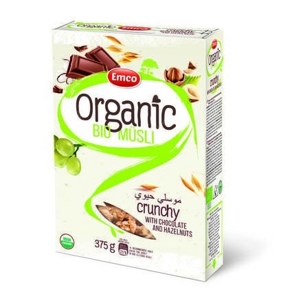 LOGO_Organic Bio Crunchy Müsli with Belgian Chocolate and Hazelnuts 375G P14