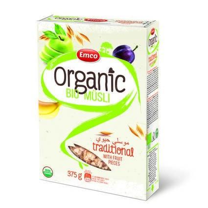 LOGO_Organic Bio Traditional Müsli with Fruit Pieces 375g P14