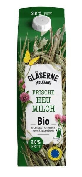 LOGO_Gläserne Molkerei Fresh organic hay milk, Bioland (3.8% fat)