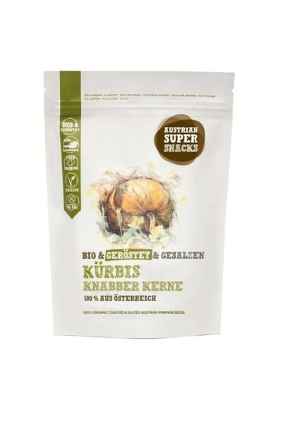 LOGO_Organic Austrian Pumpkin Seeds toasted and salted
