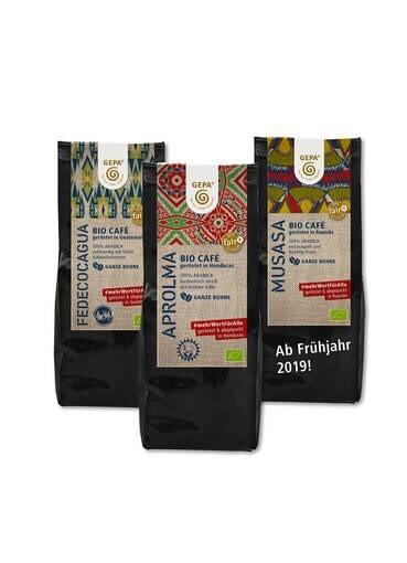 LOGO_#mehrWertFürAlle - GEPA-Kaffees, geröstet im Ursprungsland