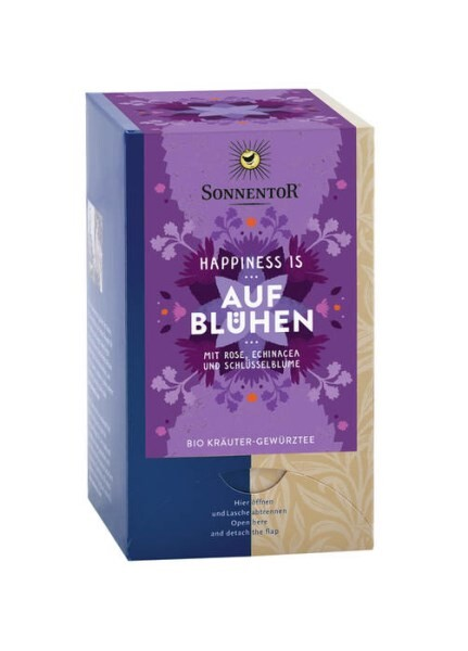 LOGO_Blossoming Tea Happiness is org. 27 g, double chamber bag