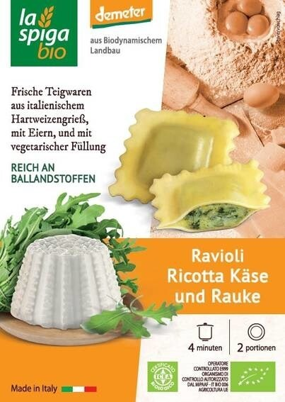 LOGO_Ravioli with ricotta cheese and rocket