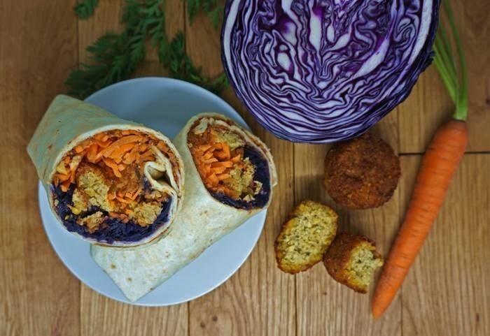 LOGO_Bio Wrap Falafel - mit Rotkohl, Falafel & Karotte
