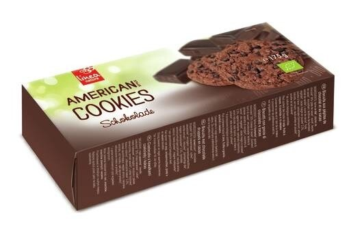 LOGO_Linea natura American biscuits with chocolate and low fat cocoa