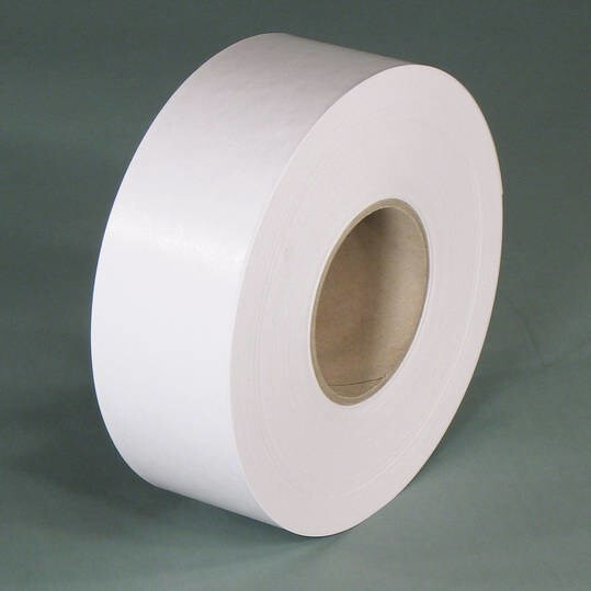 LOGO_Rolls of gummed tape in white – the ecologically convincing packaging solution for white cardboard packaging