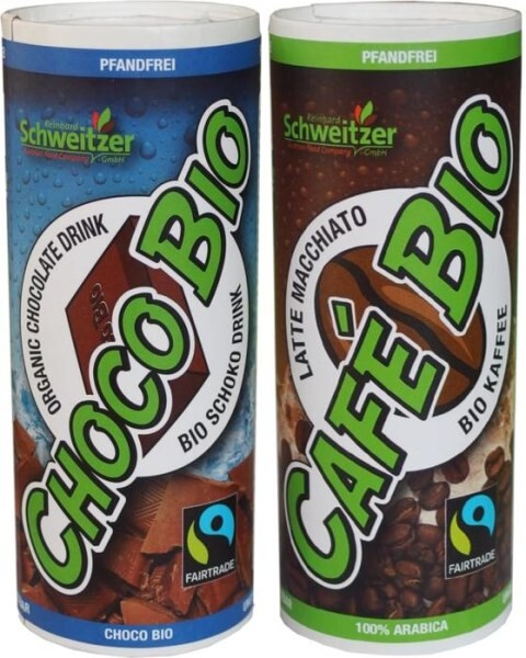 "LOGO_´Bio Fairtrade Latte Macchiato ""Café Bio"" & Bio Fairtrade Schoko Drink ""Choco Bio"" 230 ml"