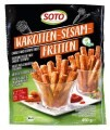 LOGO_Karotten-Sesam-Fritten/Süßkartoffel-Chia-Fritten Sticks auf Gemüsebasis,vorfrittiert & tiefgefroren
