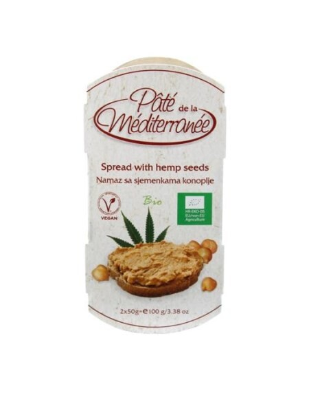 LOGO_Pate de la Mediterranee - SPREAD WITH CHICKPEARS AND HEMP SEEDS 100g