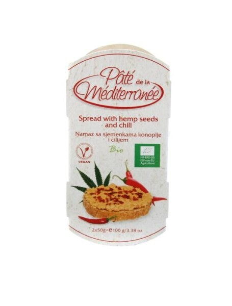 LOGO_Pate de la Mediterranee - SPREAD WITH CHICKPEARS AND HEMP SEEDS AND CHILI 100g
