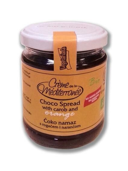 LOGO_Creme de la Mediterranee - CHOCO SPREAD WITH CAROB AND ORANGE 190g