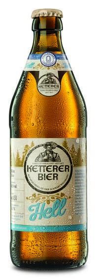 """LOGO_""""KETTERER Hell Gebraut mit Hornberger Lebensquell. Familienbrauerei M. Ketterer, Schwarzwald."""""""