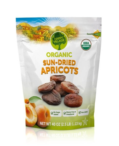 LOGO_Happy Village Organic Dried Apricots
