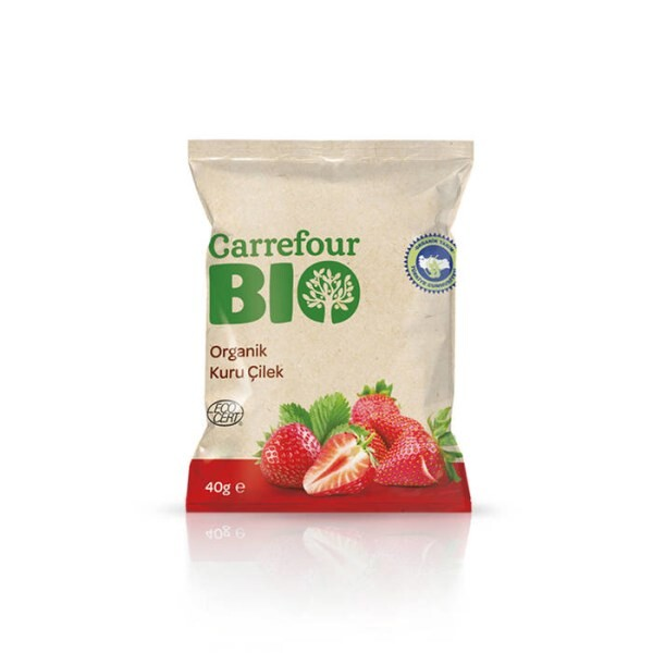 LOGO_Carrefour BIO getrocknete getrocknete Erdbeeren