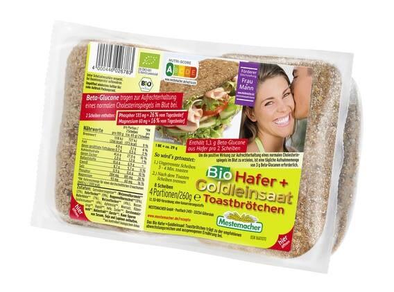 LOGO_Bio Hafer + Goldleinsaat Toastbrötchen, 4 Stück / 260 g