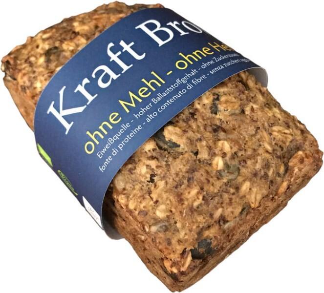 LOGO_Ultner Brot, Kraftbrot, ohne Mehl, ohne Hefe, 400 g