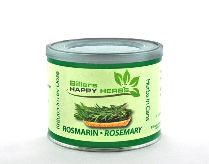 LOGO_Billers Happy Herbs Rosmarin Kräuter in der Dose