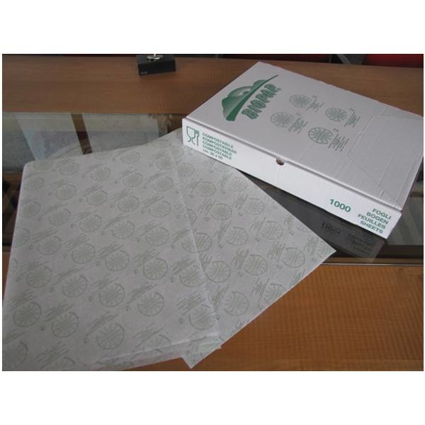 LOGO_BIOPAP® WRAP Wrapping paper, fat resistant, sealable. Biodegradable, compostable, recyclable (EN13432:2002