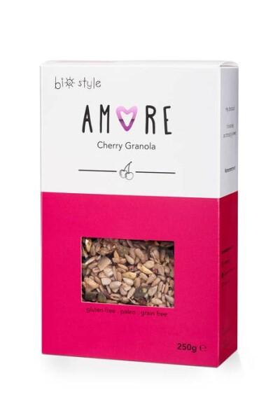 "LOGO_Organic "" AMORE'' Cherry Granola"