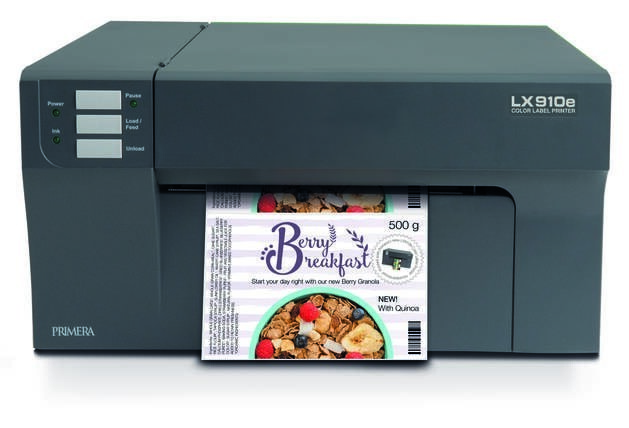 LOGO_LX910e Color Label Printer: The fastest and highest print quality colour label printer