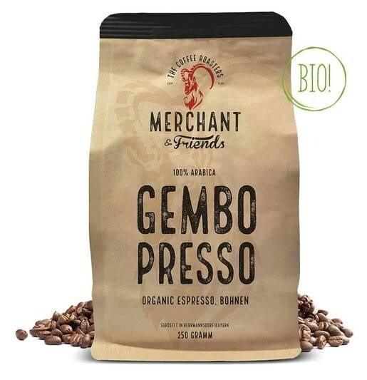 LOGO_GEMBOPRESSO organic Espresso 250g Bohne