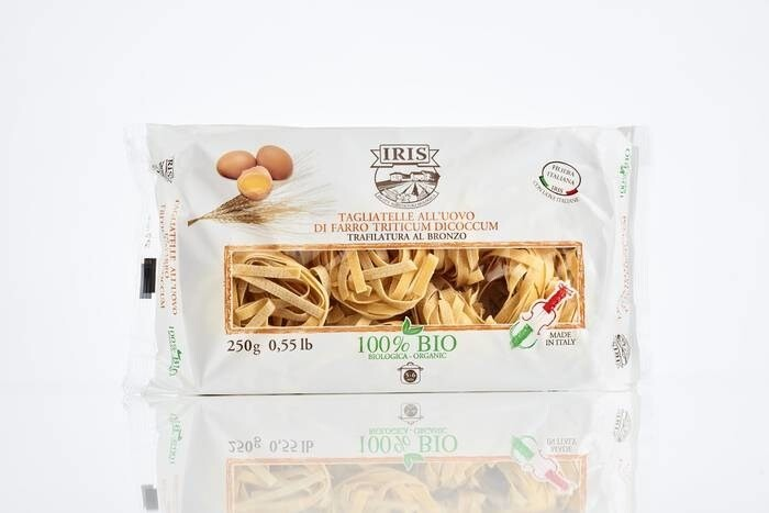LOGO_Half wholewheat Emmer with egg Nest Tagliatelle 250g IRIS