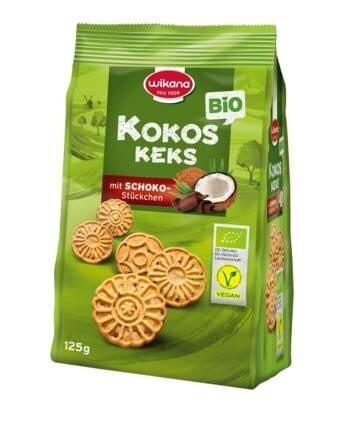 LOGO_Bio Kokoskeks mit Schokostückchen, 125 g