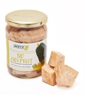 LOGO_JACKY F. Junge Bio-Jackfruit in Salzlake, 500g Glas