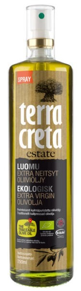 LOGO_Terra Creta Organic Extra Virgin OLive OIl in spray bottle 250 ml