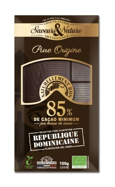 LOGO_85% cocoa dark chocolate - Single Origin Dominican Republic