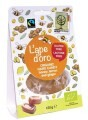 LOGO_L'Ape d'Oro: gourmet honey candies with real ginger and lemon and with propolis and erisimo