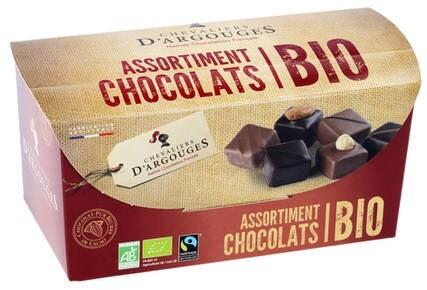 LOGO_Sortiment von 37% Milch und 72% dunkler Schokolade - 184g BIO UND FAIRTRADE