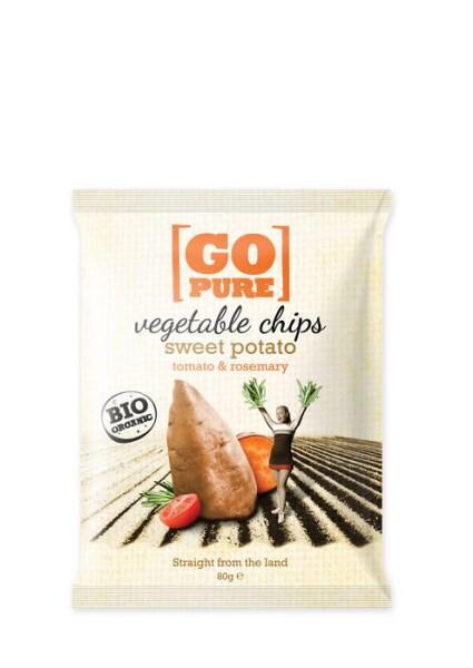 LOGO_GoPure organic vegetable chips sweet potato, tomato & rosemary 80g