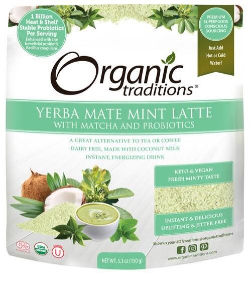 LOGO_Organic Traditions Yerba Mate Mint Latte with Matcha and Probiotics