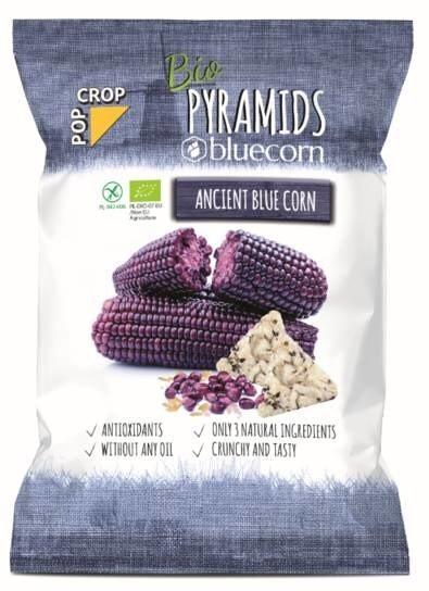 LOGO_Bio Piramiden bluecorn - naturelle Getreidesnacks aus bluem Mais, braunem Reis und Himalayasaltz (langsam gebacken, nicht frittiert)