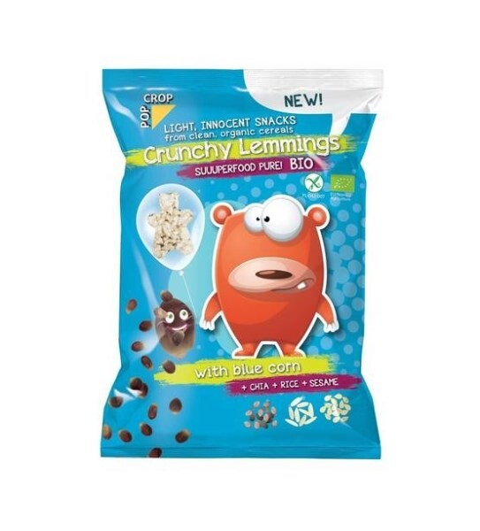 LOGO_Crunchy Lemmings BIO - light, innocent snacks from cereals produced organically, 70g