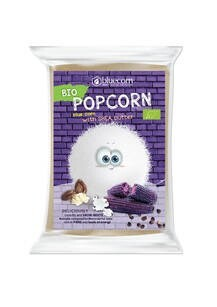 LOGO_Organic BLUECORN Popcorn with Shea butter and salt. For microwave