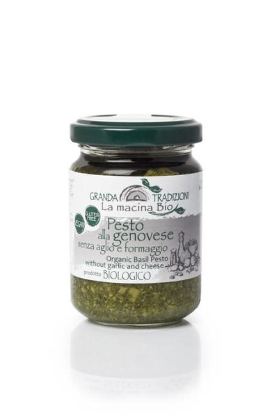 LOGO_Bio Basilikum Pesto ohne Knoblauch und Käse