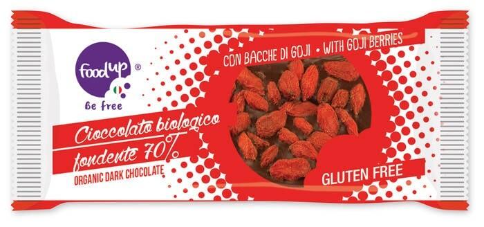 LOGO_ORGANIC EXTRA DARK CHOCOLATE BAR WITH GOJI BERRIES 20g